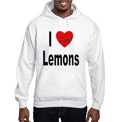 I Love Lemons (Front) Hoodie