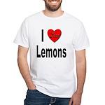 I Love Lemons (Front) White T-Shirt