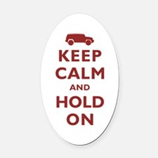 FJCruiser Keep Calm and Hold On Oval Car Magnet