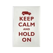 FJCruiser Keep Calm and Hold On Rectangle Magnet