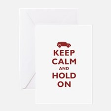 FJCruiser Keep Calm and Hold On Greeting Card