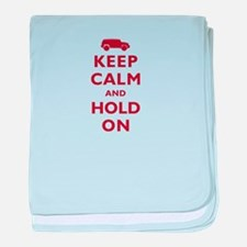 FJCruiser Keep Calm and Hold On baby blanket