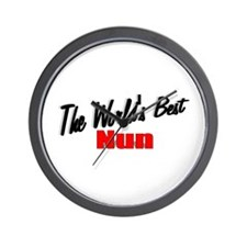 """The World's Best Nun"" Wall Clock"