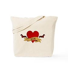 Dachshund [Doxie] Mom Tote Bag