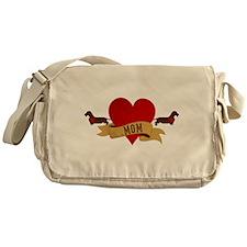 Dachshund [Doxie] Mom Messenger Bag