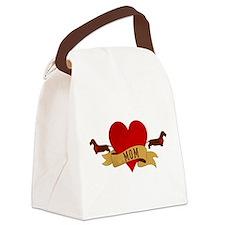 Dachshund [Doxie] Mom Canvas Lunch Bag