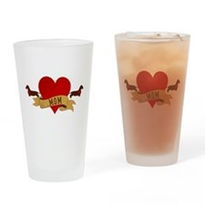 Dachshund [Doxie] Mom Drinking Glass