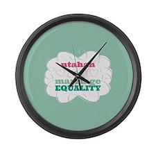 Utahan for Equality Large Wall Clock