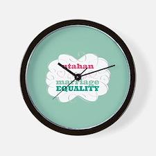 Utahan for Equality Wall Clock