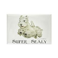 Super Sealyham Terrier Rectangle Magnet