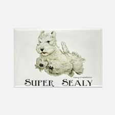 Super Sealyham Terrier Rectangle Magnet
