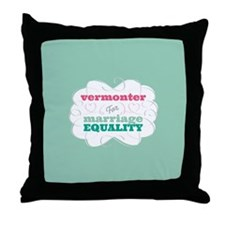 Vermonter for Equality Throw Pillow