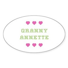 Granny Annette Oval Decal