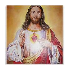 Scared Heart of Jesus Tile Coaster