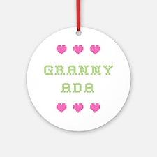 Granny Ada Round Ornament