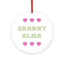 Granny Alma Round Ornament