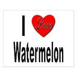 I Love Watermelon Small Poster
