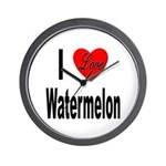 I Love Watermelon Wall Clock