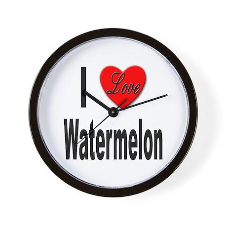 I Love Watermelon Wall Clock