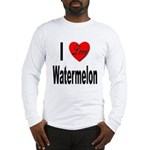 I Love Watermelon (Front) Long Sleeve T-Shirt
