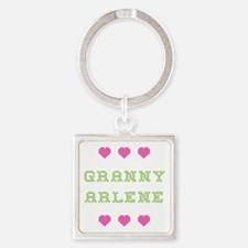 Granny Arlene Square Keychain