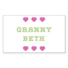 Granny Beth Rectangle Decal