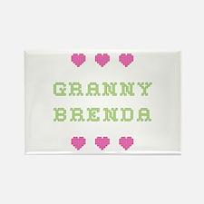 Granny Brenda Rectangle Magnet