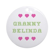 Granny Belinda Round Ornament