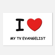 I Love tv evangelists Postcards (Package of 8)