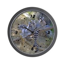 Lemur Line Wall Clock