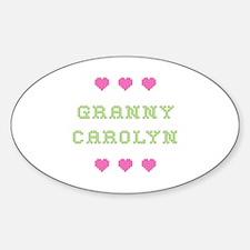 Granny Carolyn Oval Decal