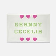 Granny Cecelia Rectangle Magnet