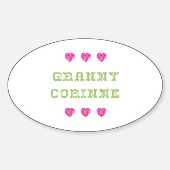Granny Corinne Oval Decal