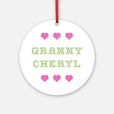 Granny Cheryl Round Ornament