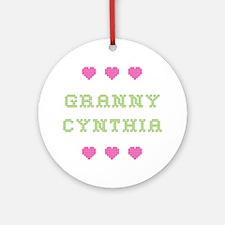 Granny Cynthia Round Ornament