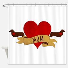 Dachshund [Doxie] Mom Shower Curtain