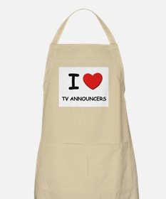 I Love tv announcers BBQ Apron