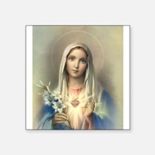 """Immaculate Heart of Mary Square Sticker 3"""" x 3"""""""