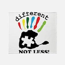Autism awarness Throw Blanket