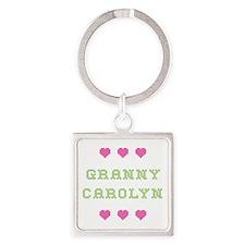 Granny Carolyn Square Keychain