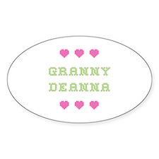 Granny Deanna Oval Decal
