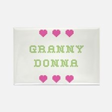 Granny Donna Rectangle Magnet