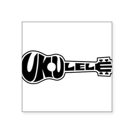 Ukulele Logo Sticker