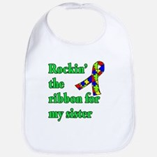 Autism Ribbon for Sister Bib