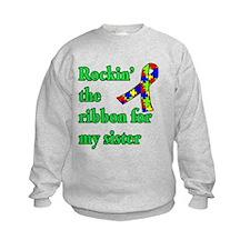 Autism Ribbon for Sister Sweatshirt