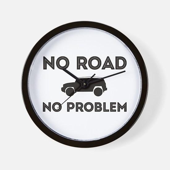 FJ Cruiser No road No Problem Wall Clock