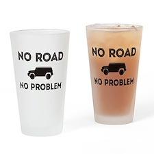FJ Cruiser No road No Problem Drinking Glass