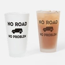 FJ Cruiser No road No Problem Drinking Glass