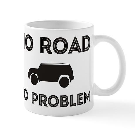 FJ Cruiser No road No Problem Small Mugs