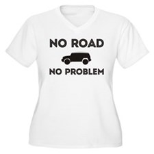 FJ Cruiser No road No Problem Plus Size T-Shirt